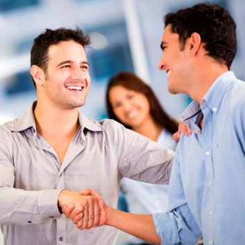 Men shaking hands image