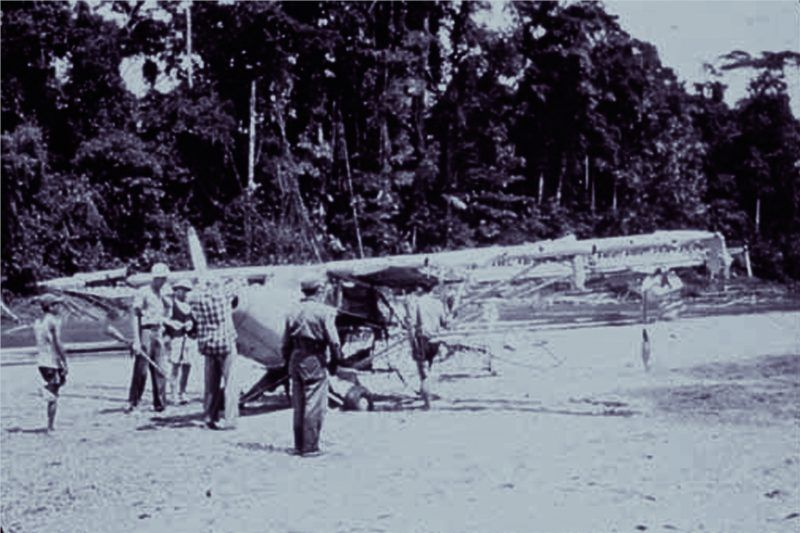 Searchers at the missionaries abandoned plane