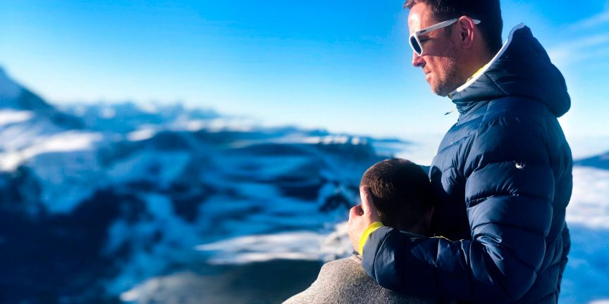 Simon Thomas with son, Ethan