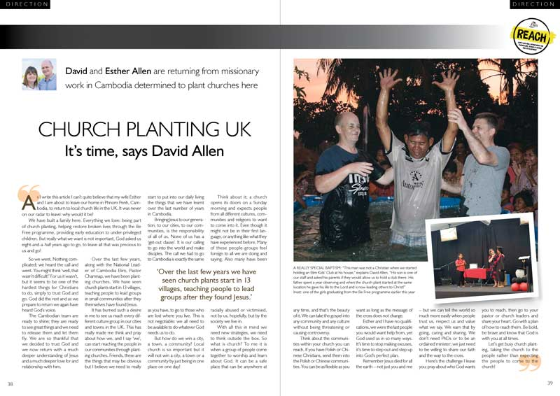 It's time for church planting, says David Allen in Direction Magazine