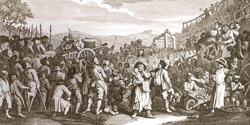 A hanging at Tyburn drawn by William Hogarth