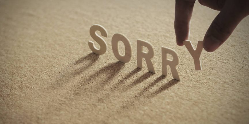 Sorry is the hardest word