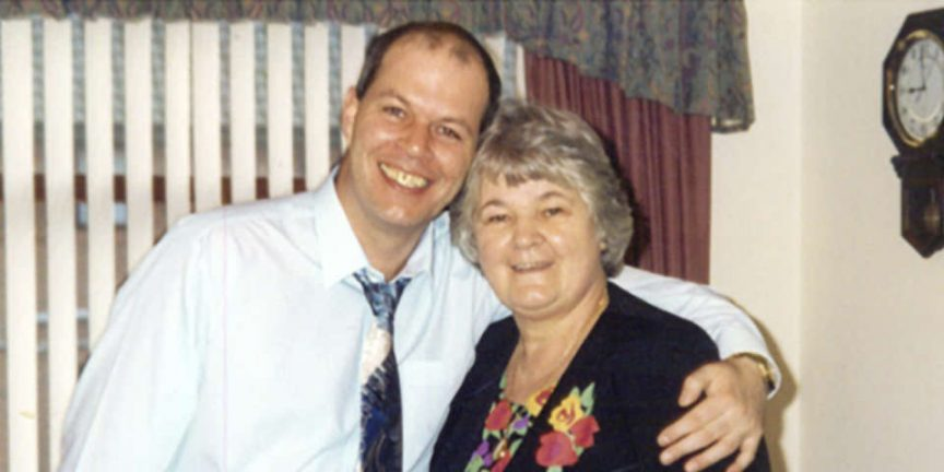 Steve Mawhinney with his Mum